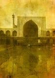 Imagem do vintage da mesquita da imã ilustração stock