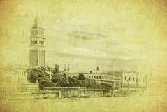 Imagem do vintage de Veneza, Italy Fotos de Stock Royalty Free