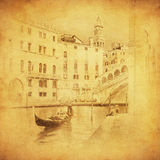 Imagem do vintage de Veneza, Italy Imagem de Stock Royalty Free