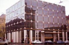 Imagem do vintage do banco de Caisse d'Epargne em Geneve, Suíça Imagens de Stock