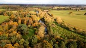 Imagem do zangão - Autumn Trees fotos de stock royalty free