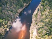 imagem do zangão ideia aérea da área rural - efeito do vintage Fotos de Stock Royalty Free