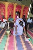Imagem documentável: Índia Puja antes do nascimento Imagens de Stock Royalty Free