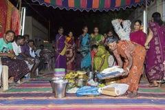 Imagem documentável: Índia Puja antes do nascimento Imagem de Stock Royalty Free