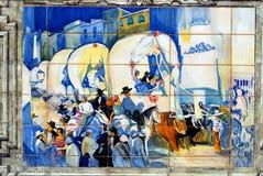 Imagem dos azulejos na plaza de Espana, Sevilha, Espanha imagens de stock