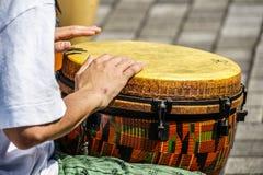 Imagem dos bongos do cilindro fotografia de stock royalty free