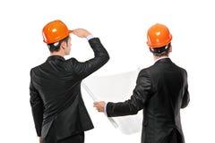 Imagem dos contramestres que interagem junto na reunião imagens de stock