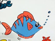 Imagem dos desenhos animados das crianças Imagens de Stock Royalty Free
