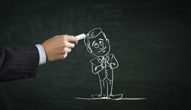 Imagem dos desenhos animados do personagem do negócio Meios mistos Fotos de Stock