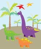 Imagem dos dinossauros Imagem de Stock