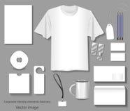 Imagem dos moldes da identidade corporativa ilustração do vetor