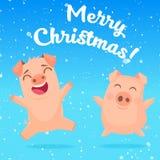 Imagem dos porcos do divertimento ilustração royalty free