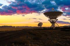 Imagem dos telescópios de rádio Imagens de Stock