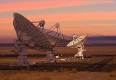 Imagem dos telescópios de rádio Imagens de Stock Royalty Free