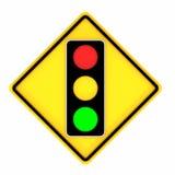 Imagem dos vários sinais de tráfego da luz do trem de estrada isolados em um fundo branco rendição 3d ilustração stock