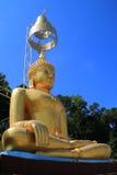 Imagem dourada de Buddha Fotos de Stock