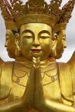Imagem dourada de Buddha, Pagoda no chanteloup, amboise, Loire Valley, france imagem de stock