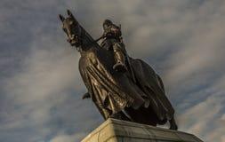 Imagem dramática de Robert o Bruce a cavalo fotografia de stock