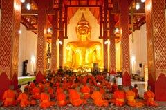 Imagem e monges de Buddha Imagens de Stock