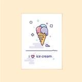 Imagem elegante e moderna do gelado Uso como um elemento do ícone ou do projeto Imagens de Stock