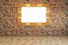 Imagem em uma parede de tijolo Imagens de Stock Royalty Free