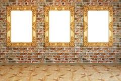 Imagem em uma parede de tijolo Imagens de Stock