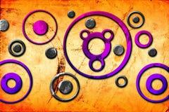 Imagem engraçada da ilustração abstrata da arte do projeto da cor Imagem de Stock