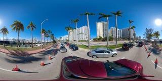 imagem 360 esférica da mostra internacional 2018 do barco de Miami Fotografia de Stock