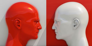 Imagem esquemática da confrontação Fotografia de Stock Royalty Free