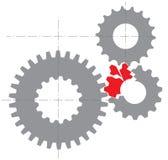 Imagem estilizado de um mecanismo quebrado Foto de Stock