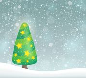Imagem estilizado 6 do assunto da árvore de Natal Imagem de Stock Royalty Free
