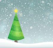 Imagem estilizado 7 do assunto da árvore de Natal Imagens de Stock Royalty Free