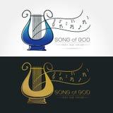Imagem estilizado do logotipo da lira Fotos de Stock Royalty Free
