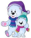 Imagem estilizado 1 do tema dos ursos polares Fotos de Stock Royalty Free