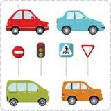 A imagem estilizado do transporte ao estilo dos desenhos animados Fotos de Stock