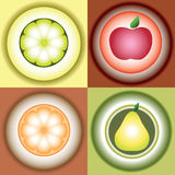 Imagem estilizado do vetor dos frutos Foto de Stock Royalty Free