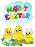 Imagem feliz 5 do tema do sinal de Easter Imagens de Stock Royalty Free