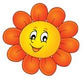 Imagem feliz 1 do tema da cabeça de flor Foto de Stock Royalty Free