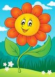 Imagem feliz 4 do tema da flor Foto de Stock