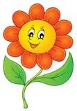 Imagem feliz 3 do tema da flor Fotografia de Stock