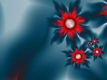 Imagem floral da fantasia, backgroung para introduzir o texto Fundo da flor para introduzir o texto Imagem azul do fractal ilustração stock
