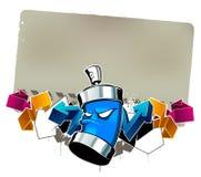 Imagem fresca dos grafittis Fotos de Stock Royalty Free