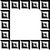 Imagem geométrica, quadro da foto no formato squarish ilustração do vetor