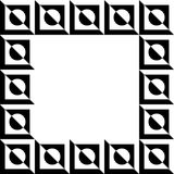 Imagem geométrica, quadro da foto no formato squarish ilustração stock