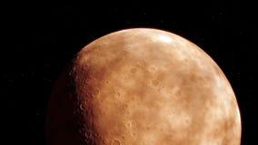 Imagem gerada processual de Marte Imagem de Stock