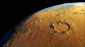 Imagem gerada processual de Marte Foto de Stock Royalty Free