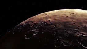Imagem gerada processual de Marte Fotos de Stock