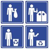 Imagem gráfica - recicl, macho ilustração stock