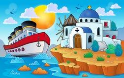 Imagem grega 8 do tema Foto de Stock