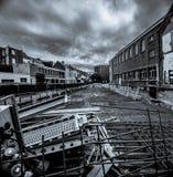Imagem Greyscale da reconstrução da cidade Imagens de Stock Royalty Free